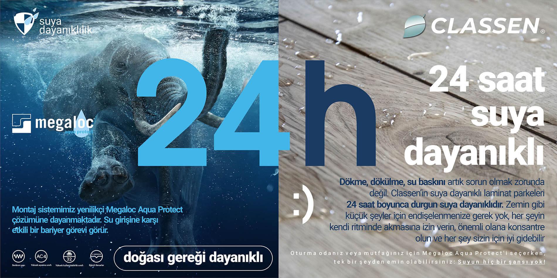 24 saat suya dayanıklı